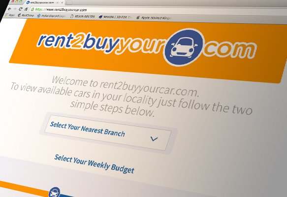 Rent2BuyYourCar Branding, Website Design, Telford, Shropshire, West Midlands