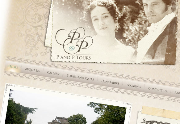 P&P Tours Website Design, Shrewsbury, Shropshire